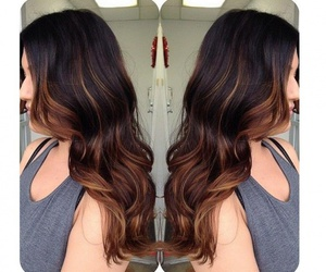 brown, highlights, and ombre image