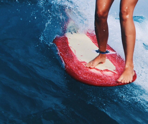 girl, photography, and surf image