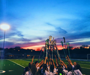 girls, sports, and lacrosse image