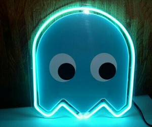 neon and pacman image