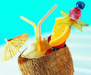 summer, drink, and fruit image