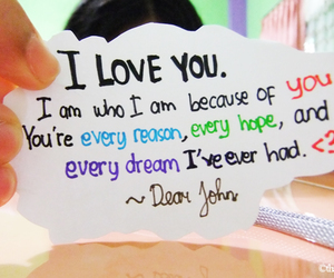 dear john, love, and quote image