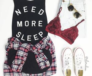 bra, converse, and shorts image