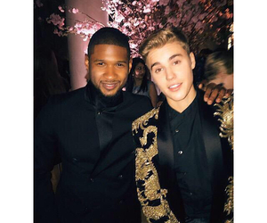 justin bieber, usher, and boy image