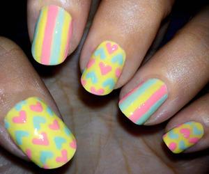 art, yellow, and nails image
