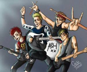 dessin, 5sos, and music image