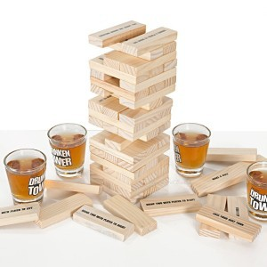 drunk jenga, drinking games, and drunker tower image