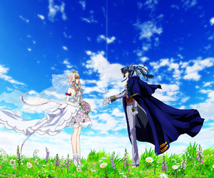 anime, couple, and macross frontier image
