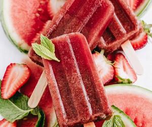 food, watermelon, and ice cream image