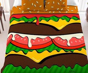 bed, burger, and hamburger image