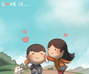 caricatura, love is, and hj story image