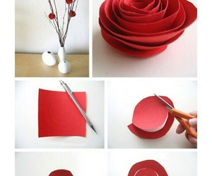 diy, red, and rose image