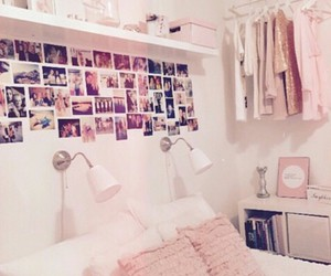 inspiration, bedroom, and pink image