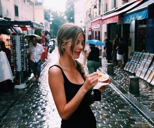 girl, street, and braid image