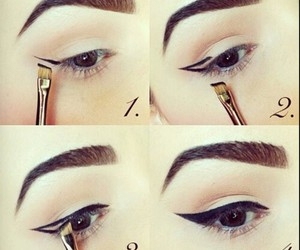 eyeliner, tips, and winged image