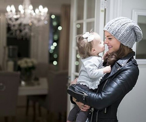 baby, black, and daughter image