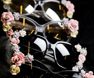 flowers, sunglasses, and accessories image