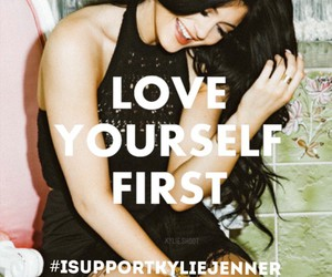 kylie jenner, quotes, and love image