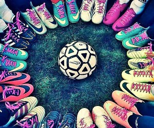 football, soccer, and nike image