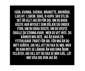 brunette, quote, and sverige image