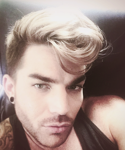 Adam lambert hairy chest