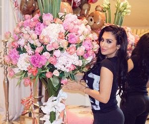 beauty, huda, and flowers image
