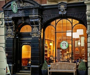 starbucks, coffee, and london image