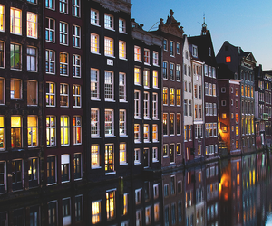 amsterdam, night, and city image