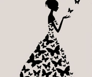 butterfly dress, pretty, and backgrounds image