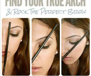 eyebrow, eyes, and tutorial image