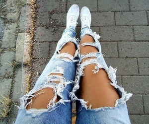 jeans, fashion, and girl image