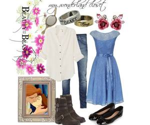 disney, outfit, and the beauty and the beast image