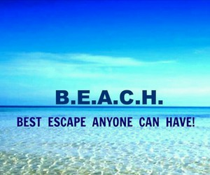beach, escape, and summer image