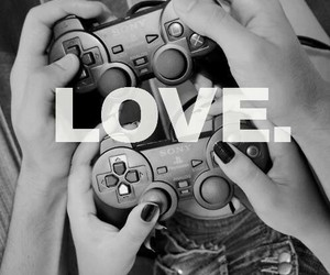 game, gamer, and love image