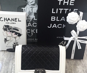 chanel, chanel purse, and chanel flower image