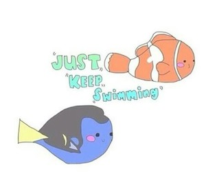 nemo, just keep swimming, and disney image