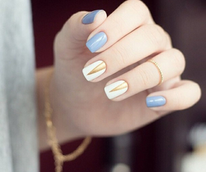 nails, blue, and gold image