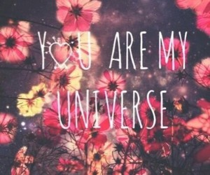 love, flowers, and universe image
