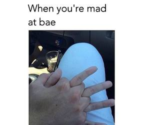 mad, bae, and funny image