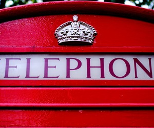 london, phone booth, and red image