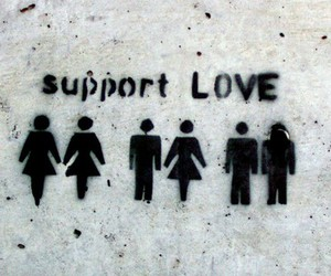 love, gay, and support image