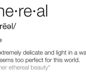 beauty, ethereal, and word image