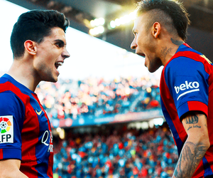 neymar and marc bartra image
