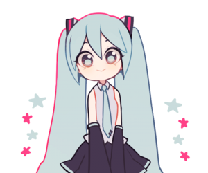 hatsune miku, vocaloid, and cute image