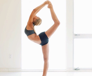 yoga, alexis ren, and fit image