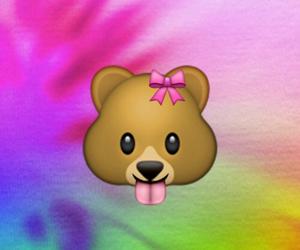 bear, emoji, and bow image