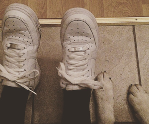 black and white, style, and airforce1 image