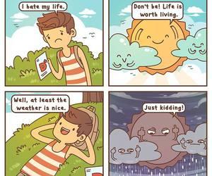 funny, life, and sun image