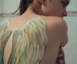 wings, angel, and tattoo image