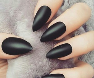 nails, matte, and nail art image